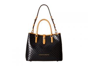 Dooney & Burke Claremont Woven Perry Satchel