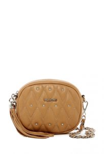 Valentino By Mario Valentino Nina Diamond Quilt Leather Crossbody